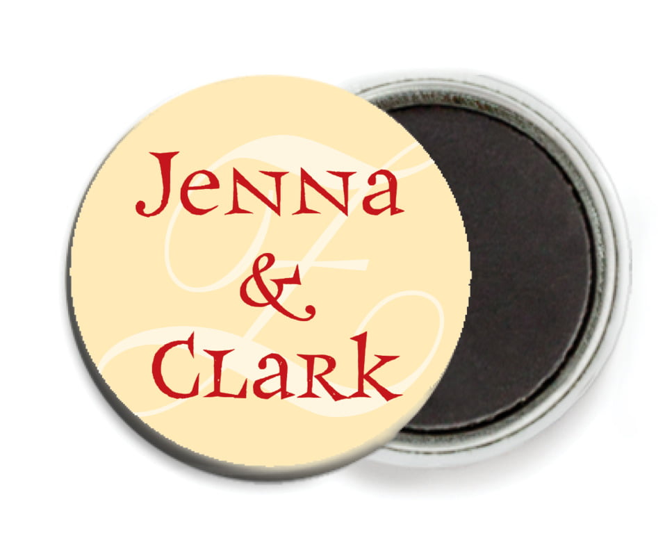 custom button magnets - gold, black & red - 23rd avenue (set of 6)