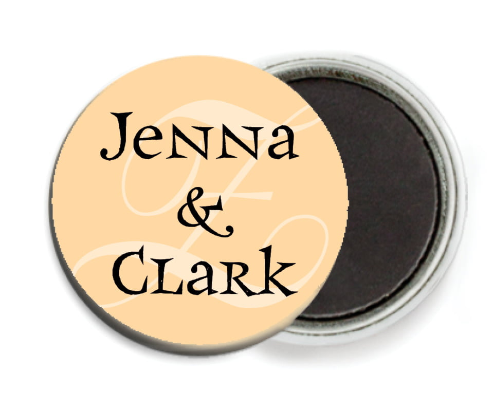 custom button magnets - ivory, black & gold - 23rd avenue (set of 6)