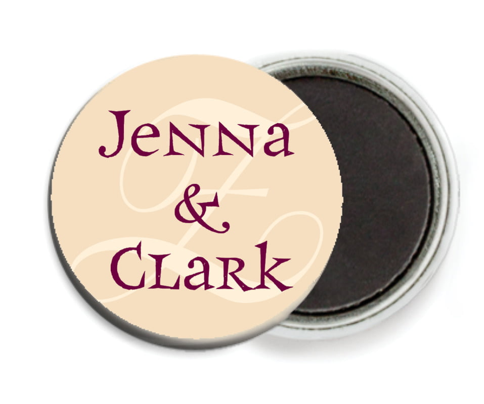 custom button magnets - burgundy - 23rd avenue (set of 6)