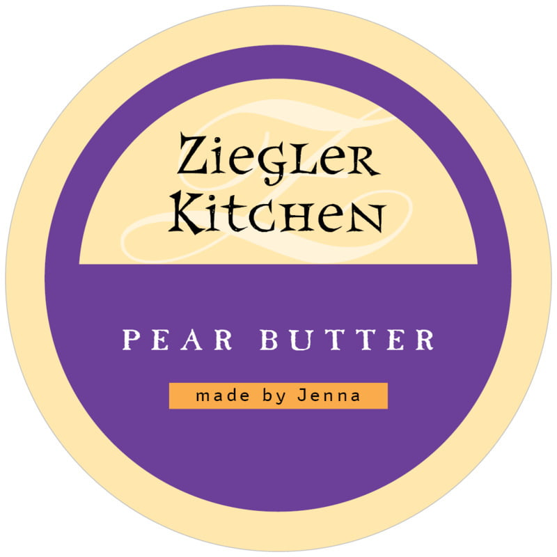 circle food/craft labels - purple - 23rd avenue (set of 12)