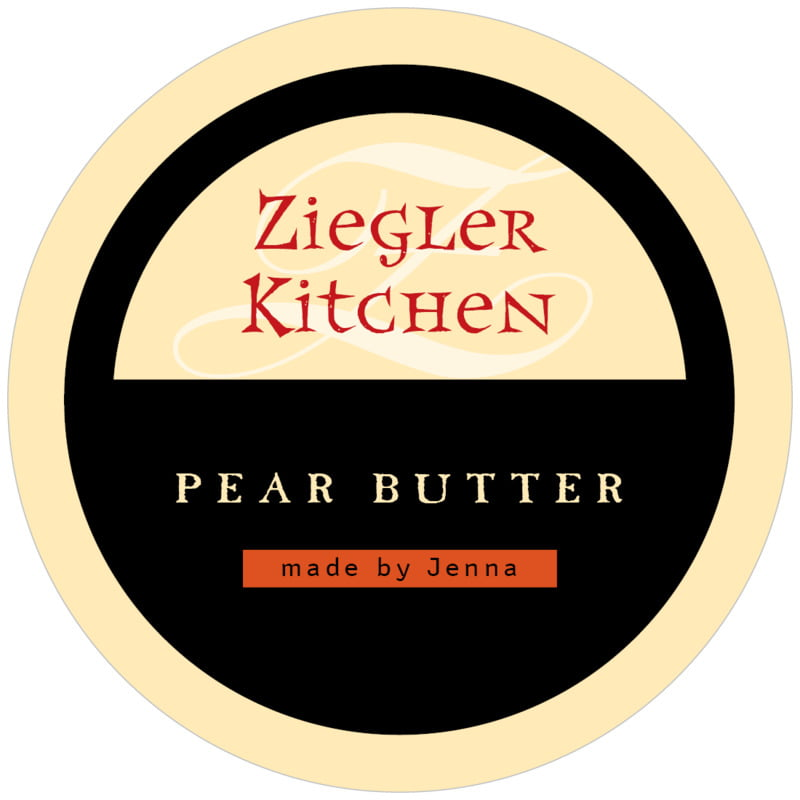 circle food/craft labels - gold, black & red - 23rd avenue (set of 12)