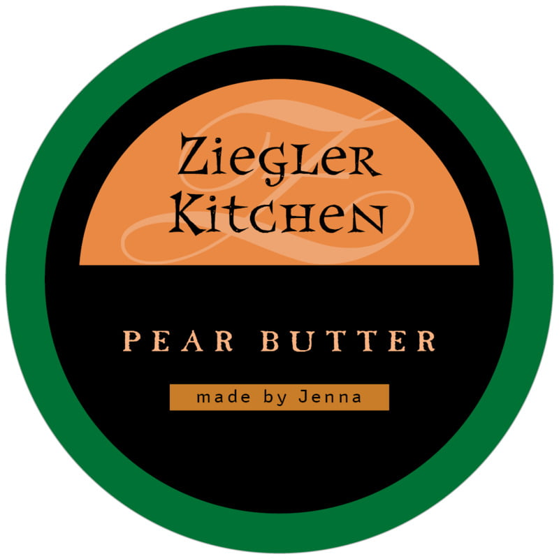 circle food/craft labels - green, spice & black - 23rd avenue (set of 12)