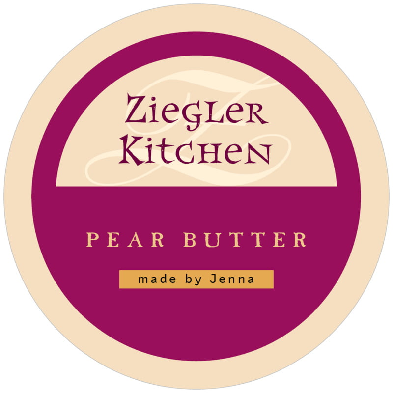 circle food/craft labels - burgundy - 23rd avenue (set of 12)