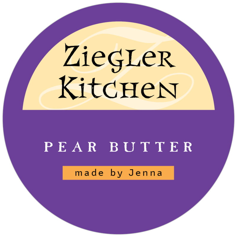 circle food/craft labels - purple - 23rd avenue (set of 20)