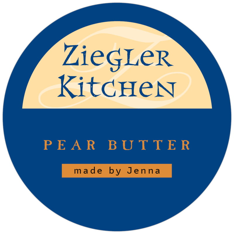 circle food/craft labels - deep blue - 23rd avenue (set of 20)