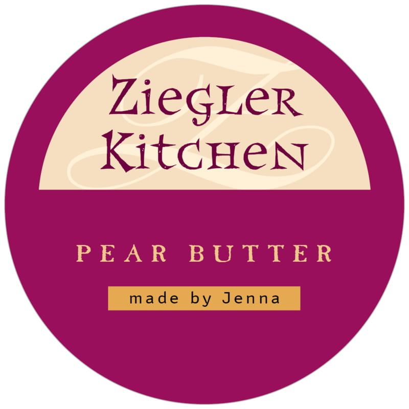 circle food/craft labels - burgundy - 23rd avenue (set of 20)