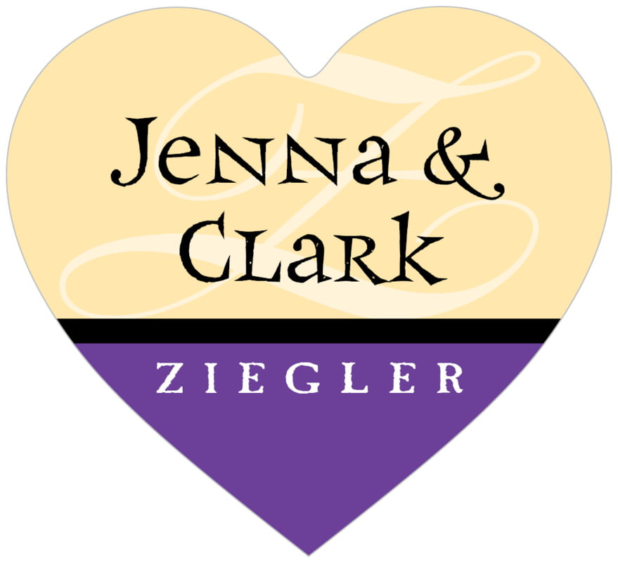 small heart food/craft labels - purple - 23rd avenue (set of 20)