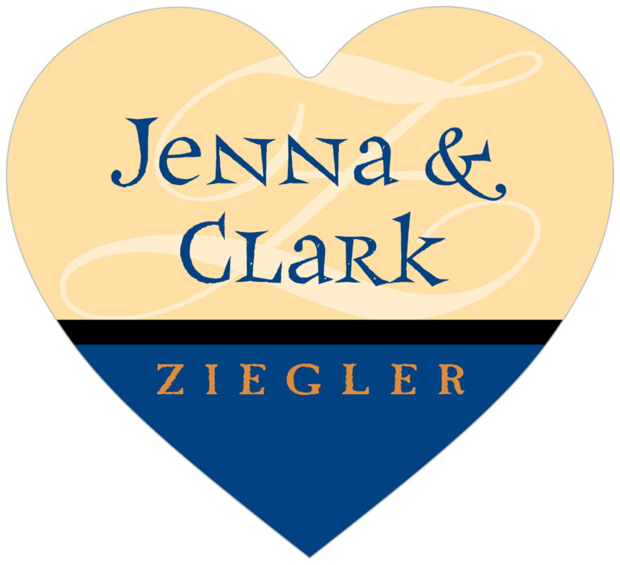 small heart food/craft labels - deep blue - 23rd avenue (set of 20)