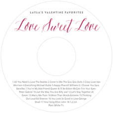 Caprice valentine's day CD/DVD labels