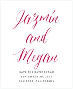 Caprice wedding wine labels