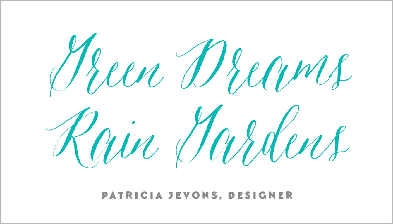 custom business cards - turquoise - caprice (set of 25)
