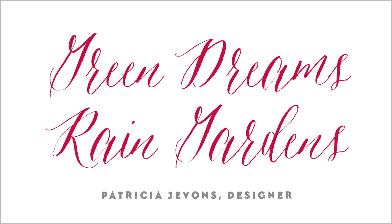 custom business cards - deep red - caprice (set of 25)