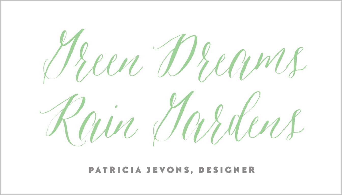 custom business cards - spring green - caprice (set of 25)