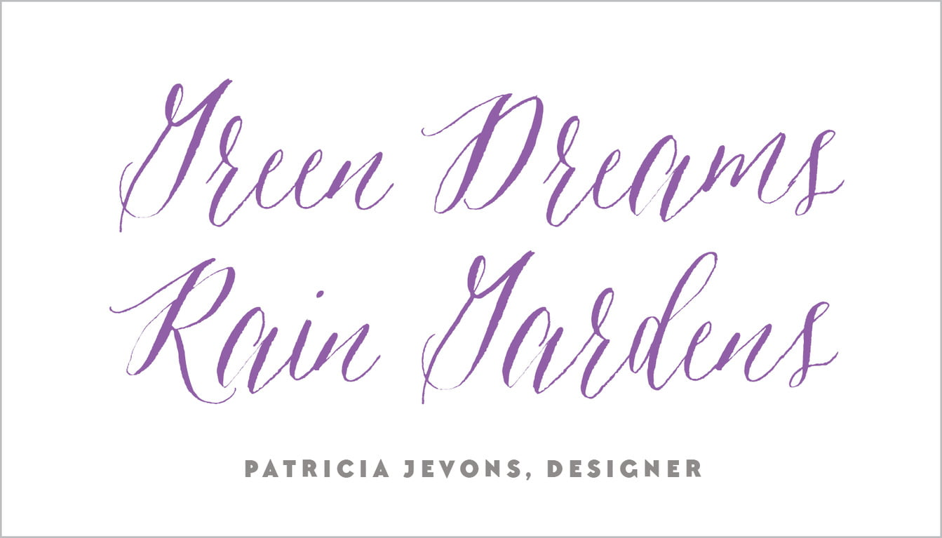 custom business cards - purple - caprice (set of 25)