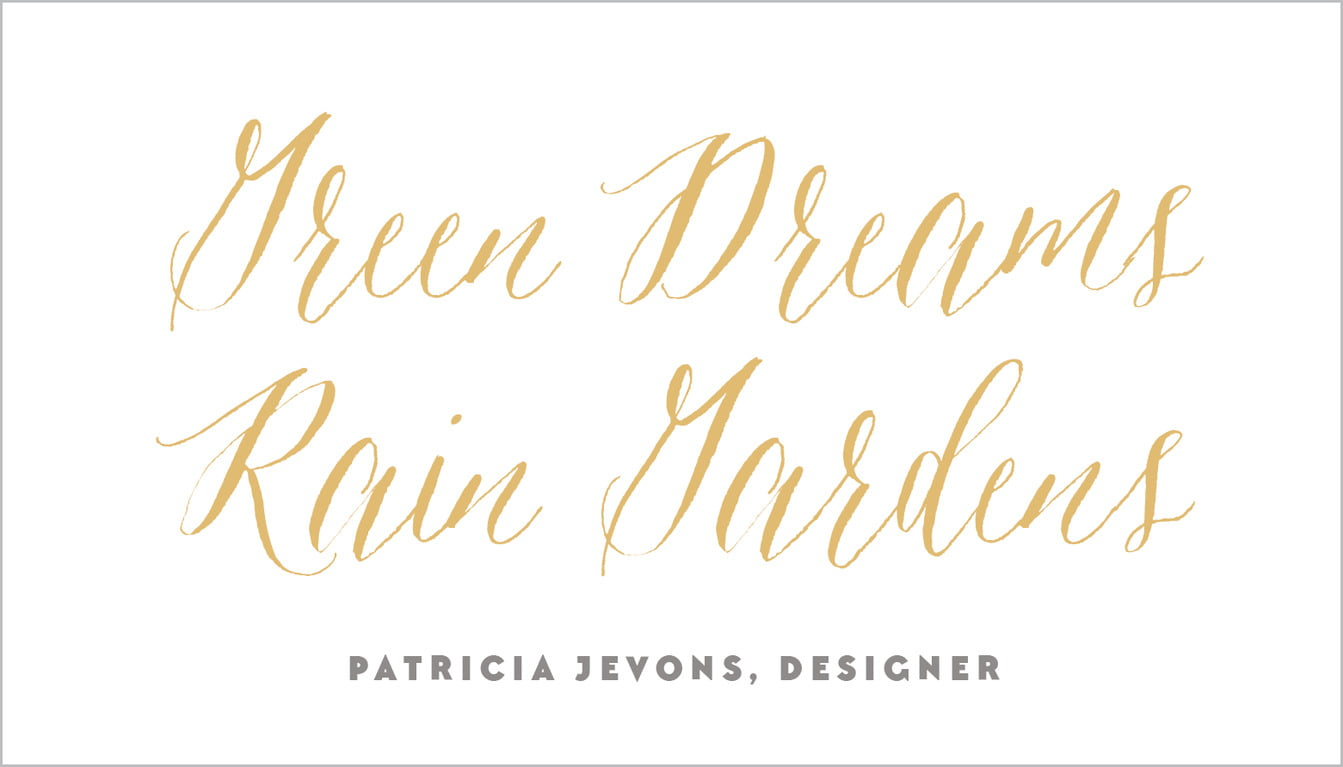 custom business cards - deep gold - caprice (set of 25)