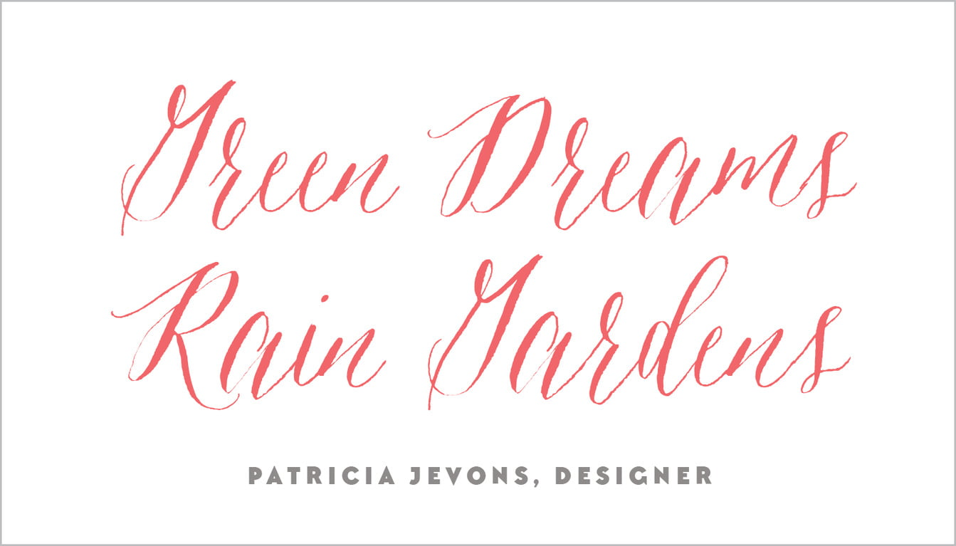 custom business cards - deep coral - caprice (set of 25)