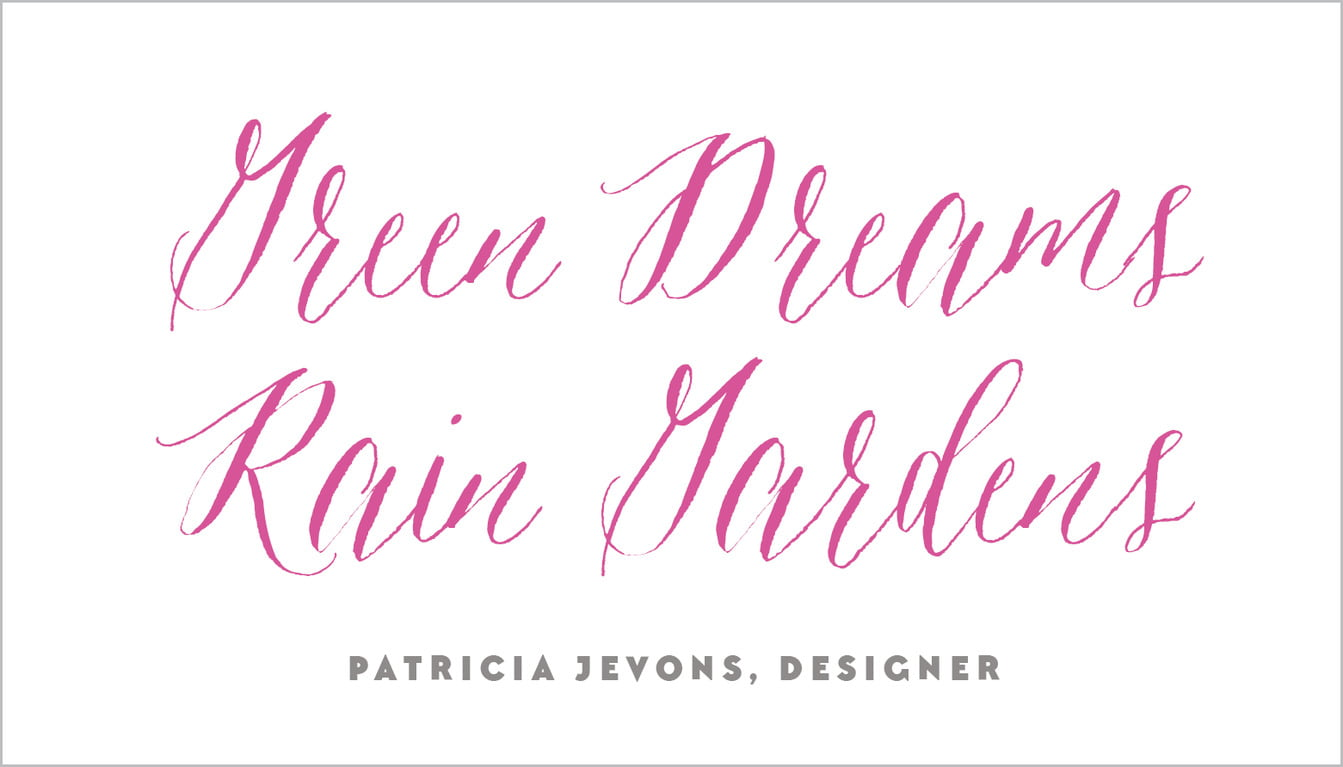 custom business cards - bright pink - caprice (set of 25)