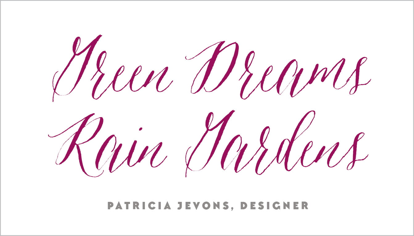custom business cards - burgundy - caprice (set of 25)