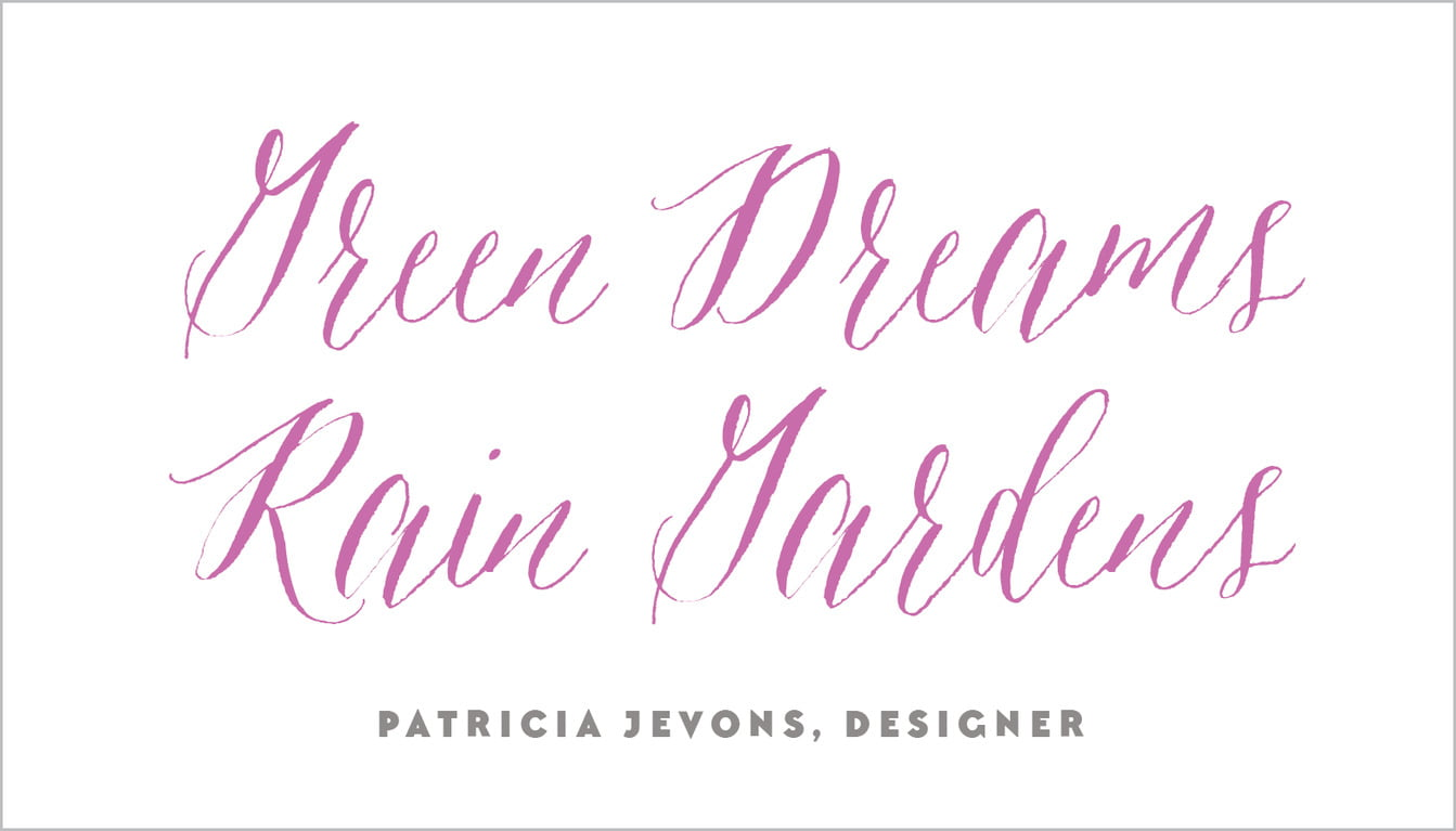 custom business cards - radiant orchid - caprice (set of 25)
