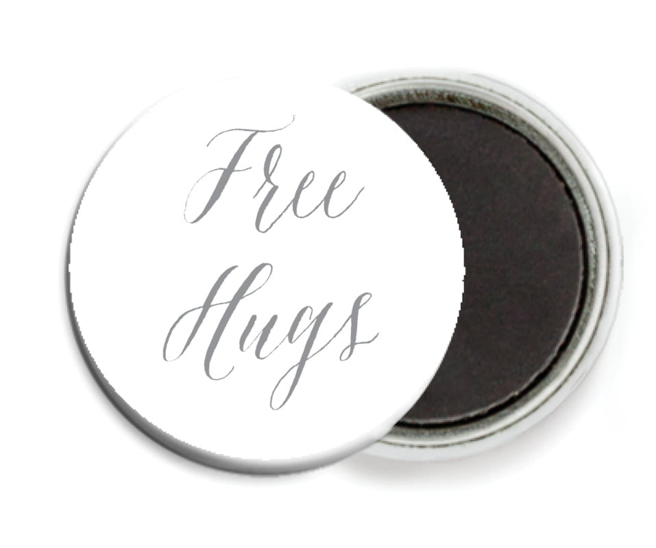 custom button magnets - charcoal - caprice (set of 6)