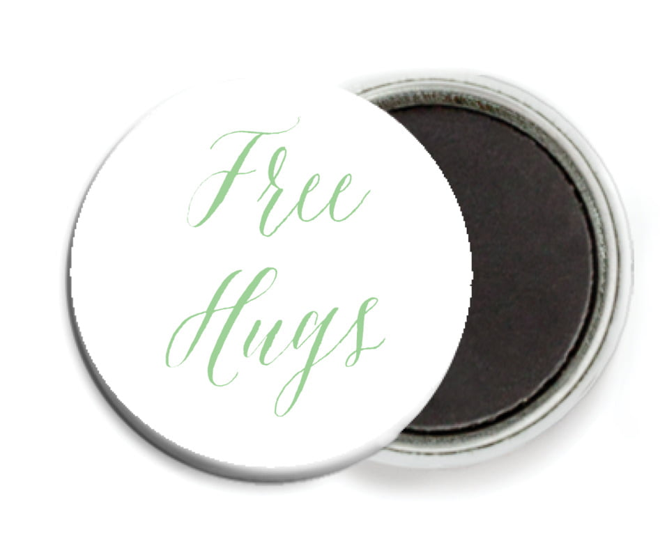 custom button magnets - spring green - caprice (set of 6)