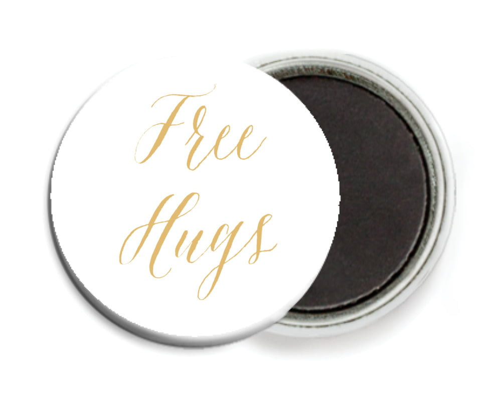custom button magnets - deep gold - caprice (set of 6)