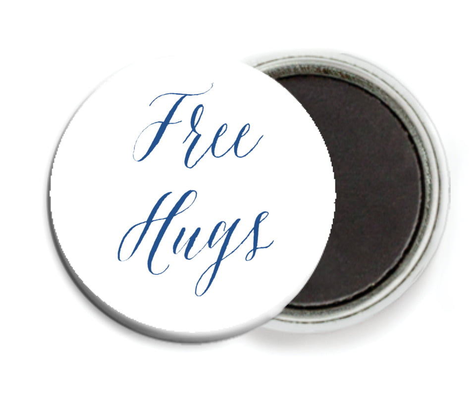 custom button magnets - deep blue - caprice (set of 6)
