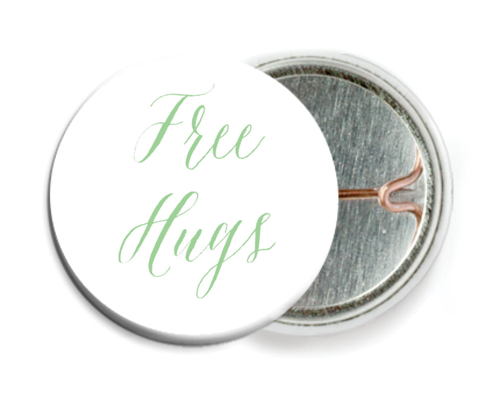 custom pin back buttons - spring green - caprice (set of 6)