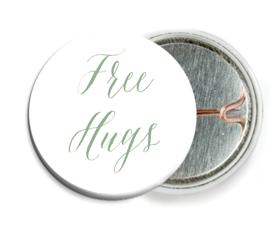 custom pin back buttons - sage - caprice (set of 6)
