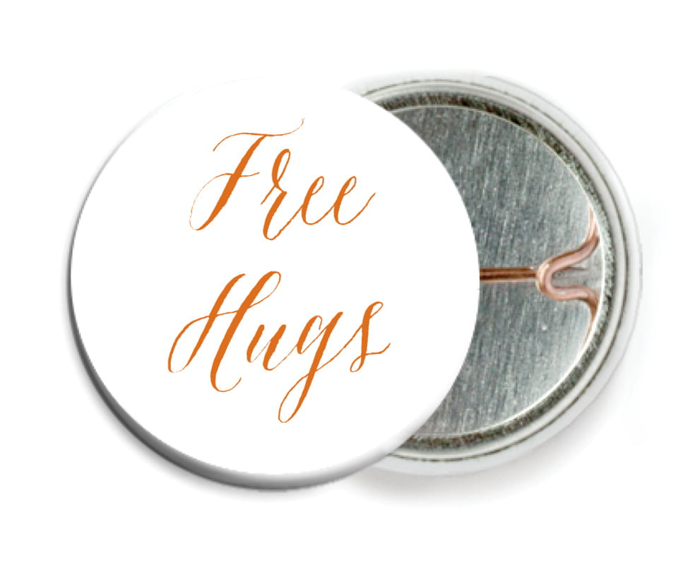 custom pin back buttons - spice - caprice (set of 6)