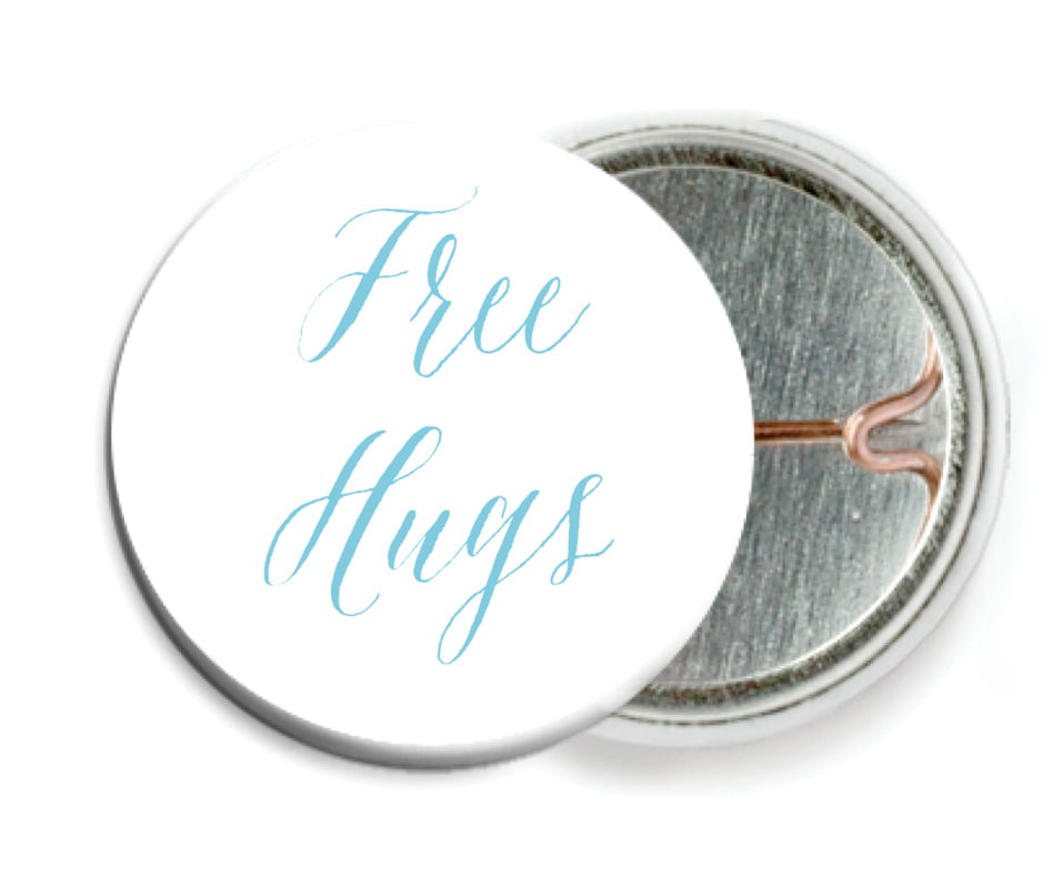 custom pin back buttons - sky - caprice (set of 6)