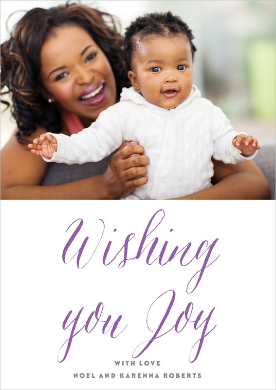 holiday cards - purple - caprice (set of 10)