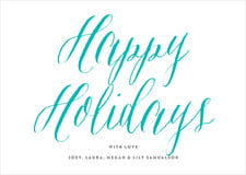 holiday cards - turquoise - caprice (set of 10)
