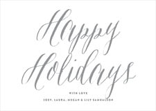 holiday cards - charcoal - caprice (set of 10)