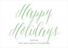holiday cards - spring green - caprice (set of 10)