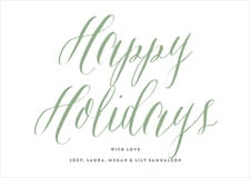 holiday cards - sage - caprice (set of 10)