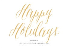 holiday cards - deep gold - caprice (set of 10)