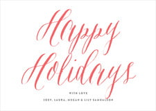 holiday cards - deep coral - caprice (set of 10)