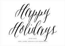 holiday cards - tuxedo - caprice (set of 10)
