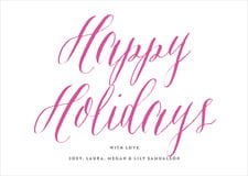 holiday cards - bright pink - caprice (set of 10)