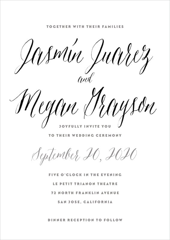 custom invitations - tuxedo - caprice (set of 10)
