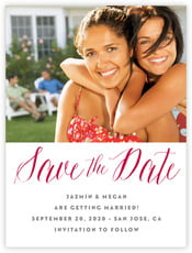 Caprice wedding save the date cards