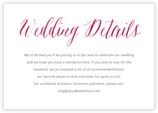 Caprice wedding enclosure cards