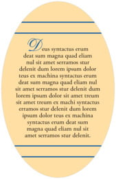 Allegro oval text labels