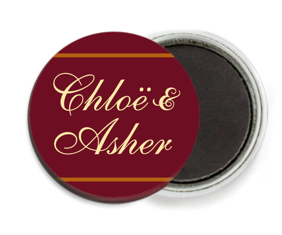 custom button magnets - gold, ivory & brown - allegro (set of 6)