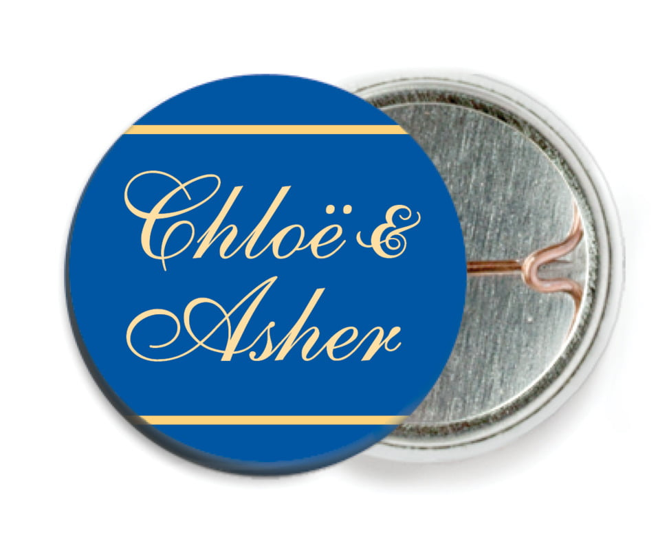 custom pin back buttons - deep blue - allegro (set of 6)