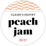 Apothecary Graphic Circle Label In Peach
