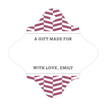 Apothecary Graphic fancy diamond gift tags