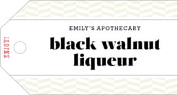 Apothecary Graphic luggage tags