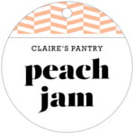 Apothecary Graphic Circle Hang Tag In Peach
